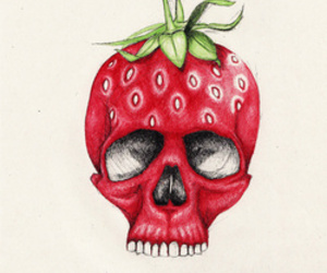 draw and strawberry image