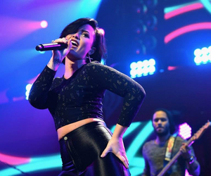 demi, lovato, and totalblack image