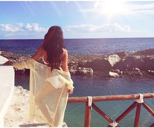 bikini, brunette, and travel image