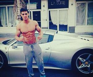 boy, abs, and car image