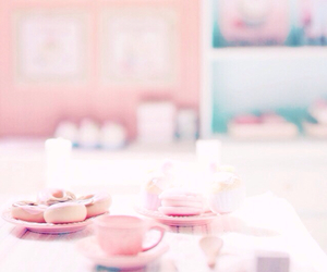 doll, cafe, and cupcake image