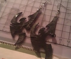 black, crafting, and earings image