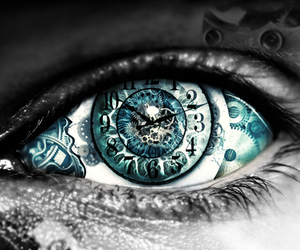 eye, blue, and time image