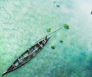 beautiful, boat, and nature image