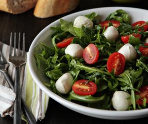 food, salad, and tomato image