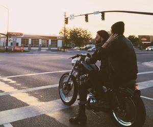 beard, couple, and street image