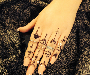 hand and tattoo image