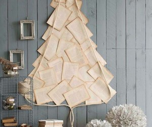 christmas, tree, and book image