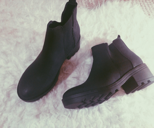 autumn, black boots, and boots image