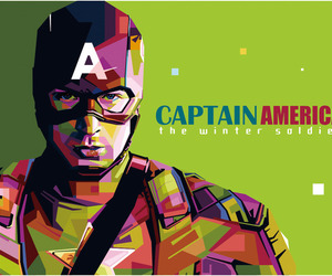 art, captain america, and graphic image