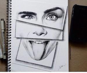 drawing, art, and cara image
