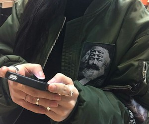 jacket, iphone, and tumblr image