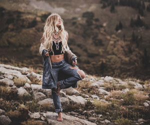 nature, hippie, and blonde image