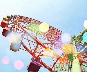 colors and ferris wheel image