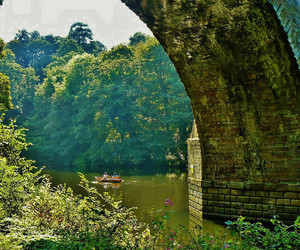arches, boating, and bridges image