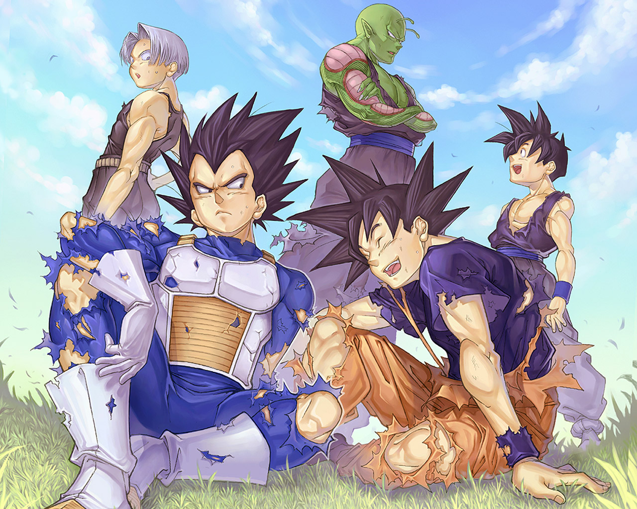 Image 722 Dragonball Gohan Goku Piccoro Trunks Vegeta Wallpaper