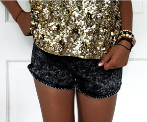 fashion, glitter, and shorts image