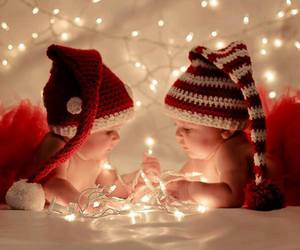 christmas, baby, and light image