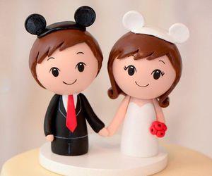 cake, couple, and disney image