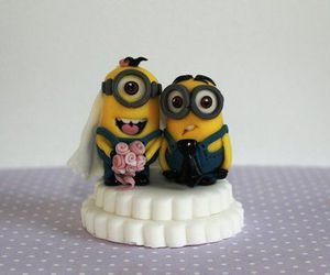 minions, wedding, and cute image