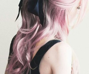 beauty, hair, and pastel image
