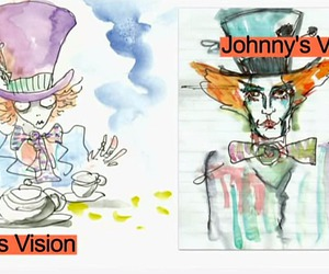 alice in wonderland, art, and johnny depp image