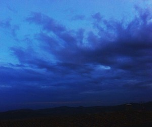 blue, grunge, and clouds image