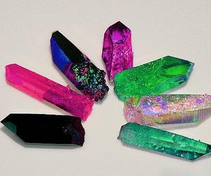 crystal, gems, and black image