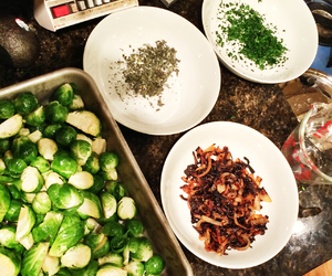 brussel sprouts, cooking, and delicious image