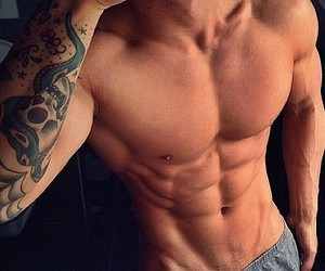 abs, fit, and sexy image