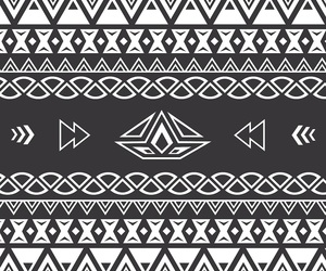 wallpaper, black and white, and aztec image