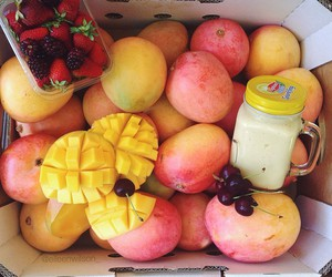 fruit, healthy, and mango image