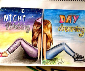 day, night, and dreaming image