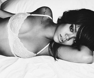 rihanna, sexy, and black and white image