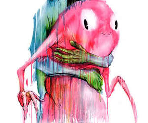 alex pardee, monster, and art image