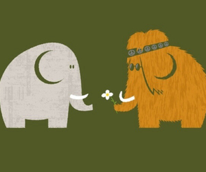 elephant, love, and hippie image