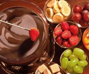 chocolate, fruit, and banana image