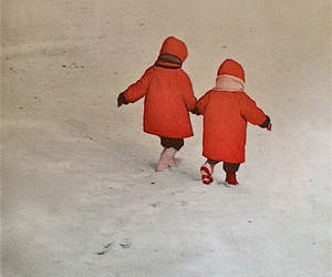 child, snow, and winter image