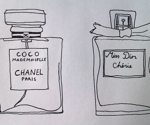 chanel, drawing, and dior image