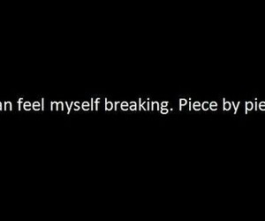 quotes, broken, and depressed image