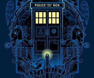 blue, doctor who, and tardis image