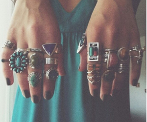 fashion, blue, and rings image