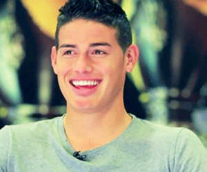 real madrid, smile, and james rodriguez image