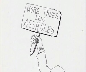tree, asshole, and quote image