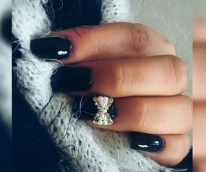 beauty, nails, and pearls image