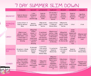 routine, fitness, and slim down image