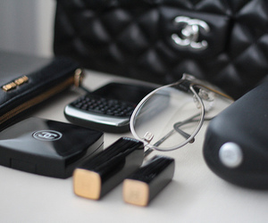 chanel, makeup, and blackberry image