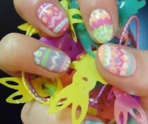 nails, easter, and art image