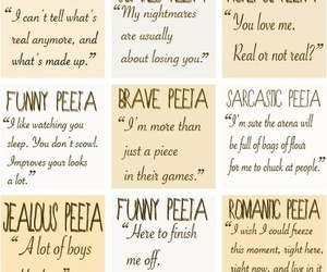 peeta, the hunger games, and quotes image