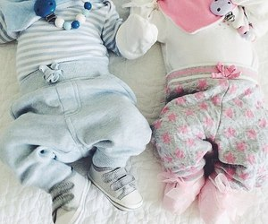 blue, girl, and twins image